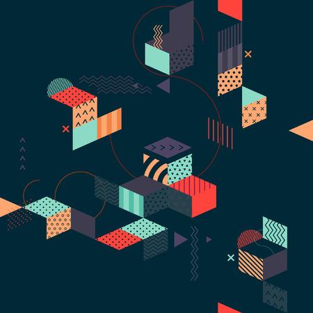 Abstracte minimalistische flat achtergrond Stock Illustratie