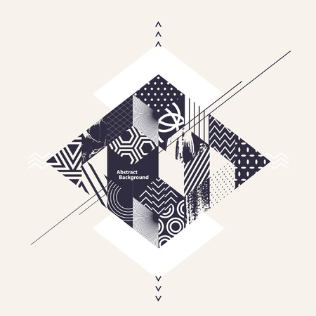 Abstract art geometric background Illustration
