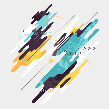 dynamic: Abstract dynamic geometric background Illustration