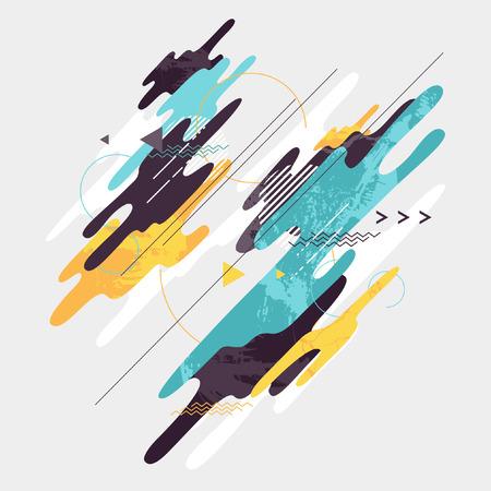 Abstracte dynamische geometrische achtergrond Stock Illustratie