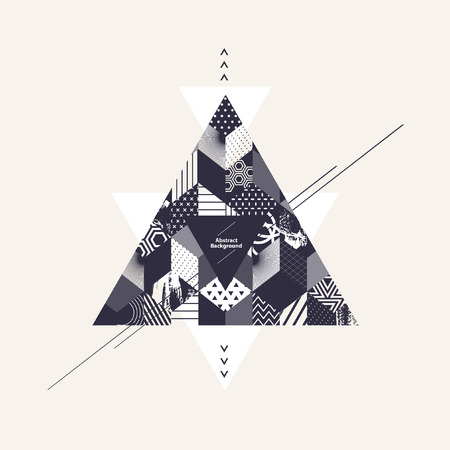 arte abstracto: Resumen de fondo de arte con triángulos
