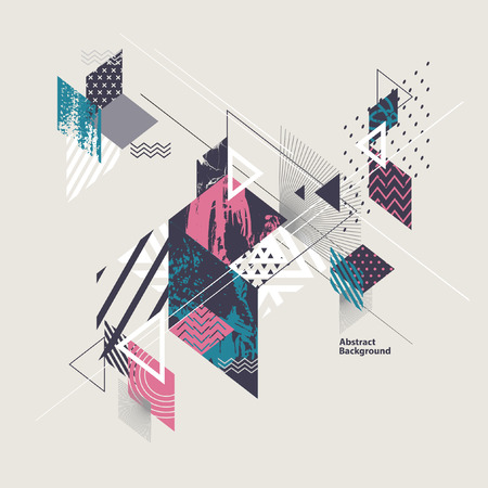 Abstract modern geometric background 일러스트
