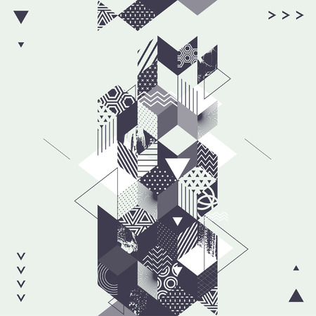 Abstract art geometric background  イラスト・ベクター素材