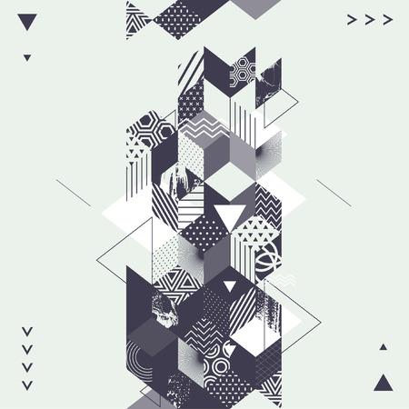 perspectiva lineal: El arte abstracto Fondo geom�trico