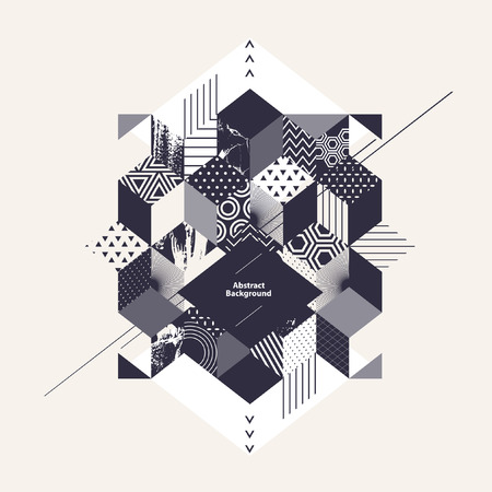 Abstract geometric background with square