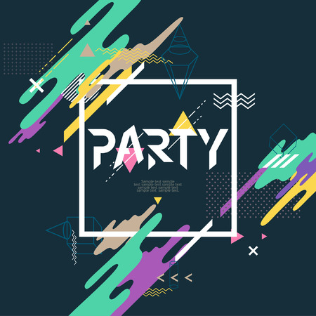 liquid summer: Abstract background for party poster