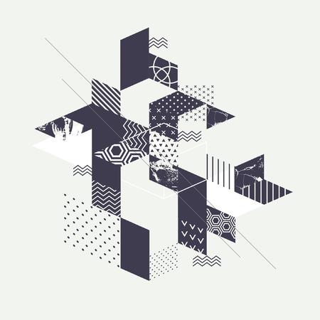 Abstract art geometric background Vettoriali