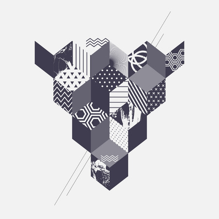 lines wallpaper: Abstract art geometric background Illustration