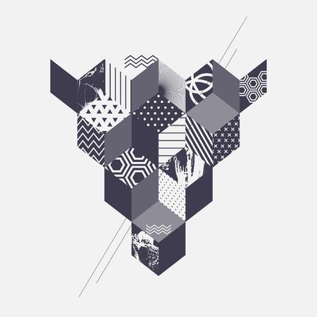 Arte astratta sfondo geometrico Vettoriali