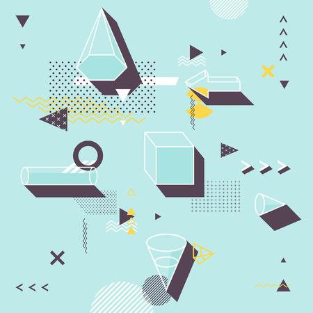 perspectiva lineal: Resumen de fondo plano minimalista