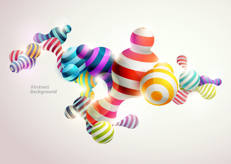 Multicolored decorative balls. Abstract vector illustration. Ilustração