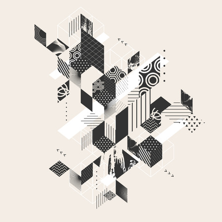 Geometric abstract flat background Illustration