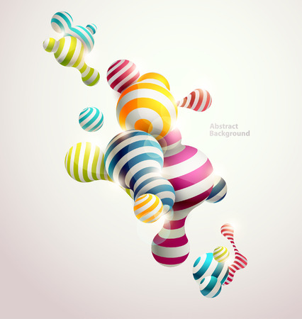 Multicolored decorative balls. Abstract vector illustration. 일러스트