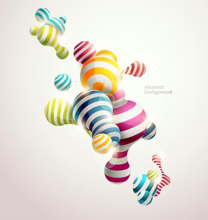 Multicolored decorative balls. Abstract vector illustration. Vettoriali