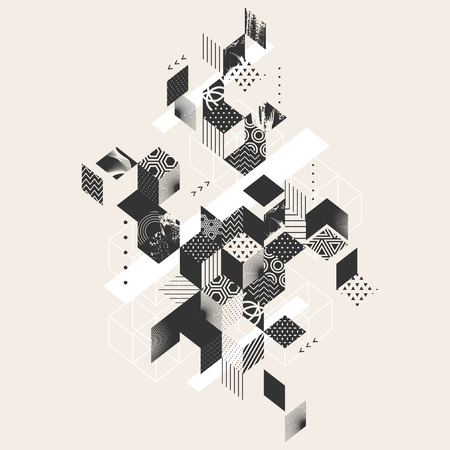Geometric abstract flat background  イラスト・ベクター素材