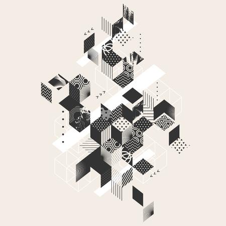 perspectiva lineal: fondo plano abstracto geom�trico Vectores