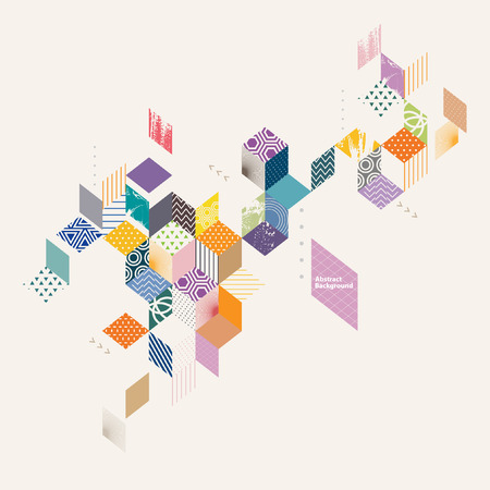 Geometric abstract flat background