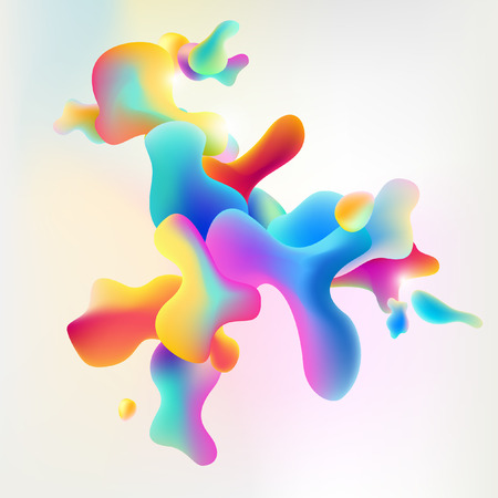 contrasty: Abstract art modern colorful background