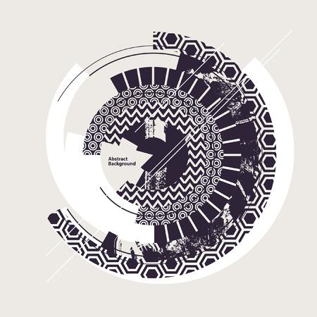 Abstracte zwart-witte geometrische achtergrond