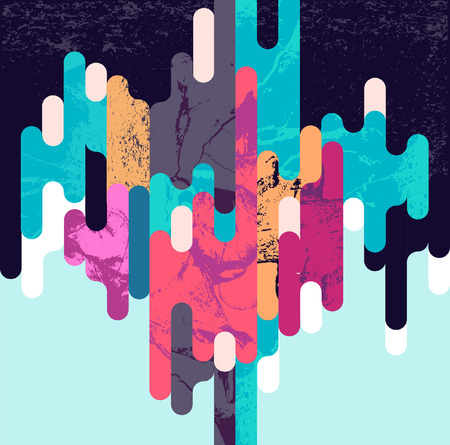 contrasty: Abstract dynamic geometric background Illustration