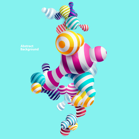 Multicolored decorative balls. Abstract vector illustration. Illustration
