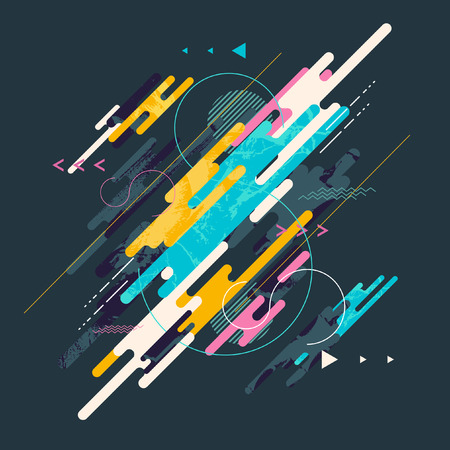 blue lines: Abstract dynamic geometric background Illustration
