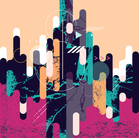 Abstract dynamic geometric background Illustration