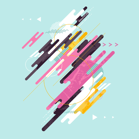 Abstract dynamic geometric background Stock Illustratie