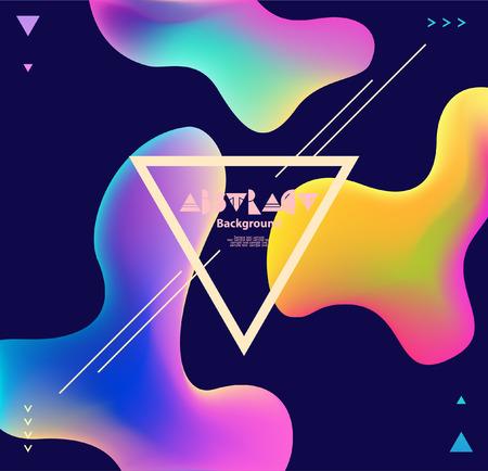 Kleurrijke plastic achtergrond met driehoekig frame