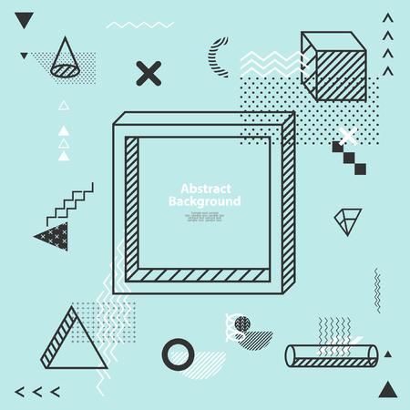 Abstract minimalistic flat background  イラスト・ベクター素材