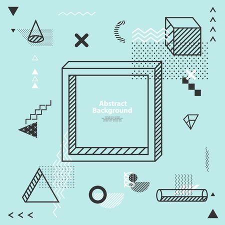 Abstract minimalistic flat background Ilustrace