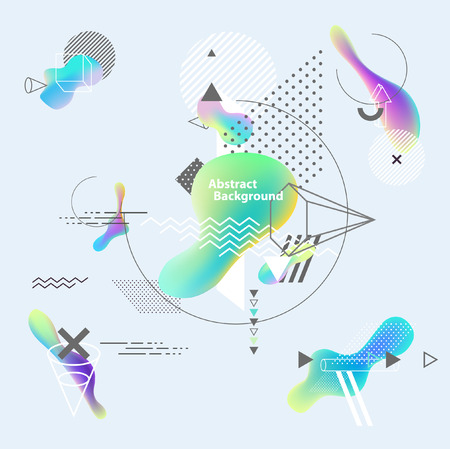 Abstract multicolor geometric background Ilustracja