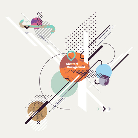 Abstract modern geometric background Illustration