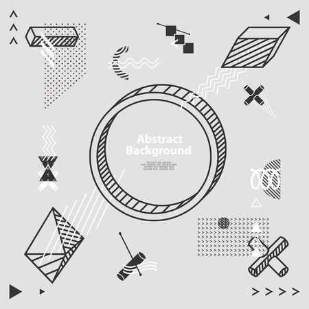 minimalistic: Abstract minimalistic flat background Illustration