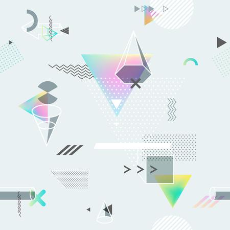 perspectiva lineal: Fondo geométrico abstracto sin fisuras