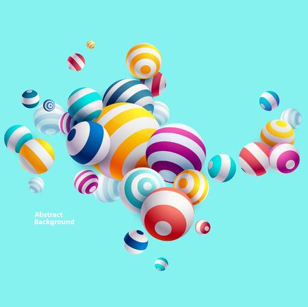 Multicolored decorative balls. Abstract illustration.