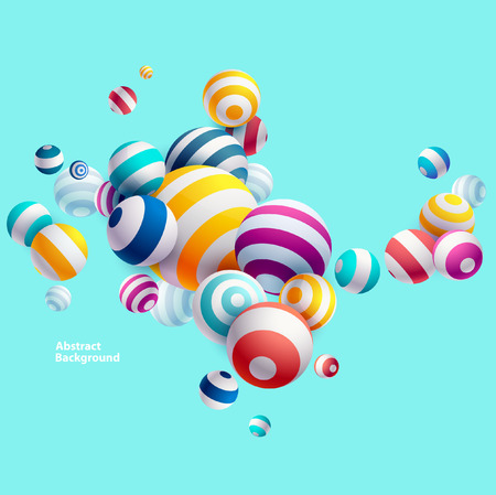 Multicolored decorative balls. Abstract illustration.