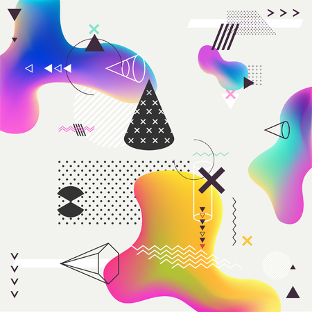 Abstract multicolor geometric background Vectores