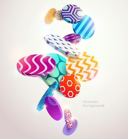 Multicolored decorative circles. Abstract vector illustration.
