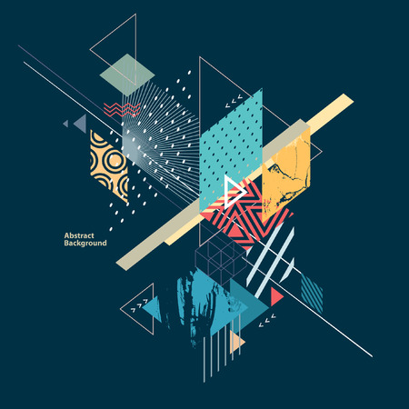 grunge backgrounds: Abstract modern geometric background Illustration