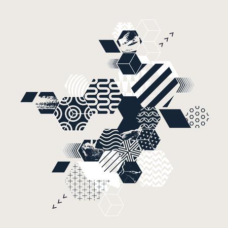 Abstract art geometric background Illustration
