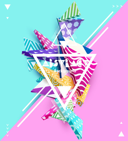 Abstract colorful composition with geometric elements
