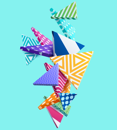 Abstracte kleurrijke achtergrond met geometrische elementen Stock Illustratie