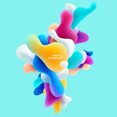 forme: formes colorées en plastique. Résumé de fond