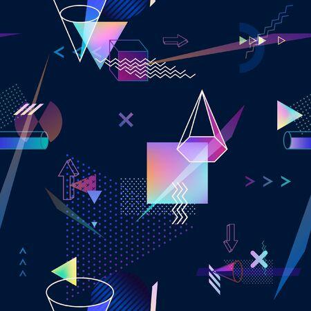 Abstract seamless geometric background 일러스트