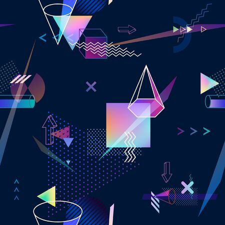 Abstract seamless geometric background Vettoriali