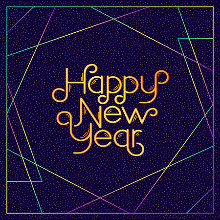 calligraphic design: Happy New Years. Calligraphic design. Illustration