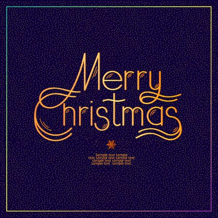 calligraphic design: Merry Christmas. Calligraphic design.