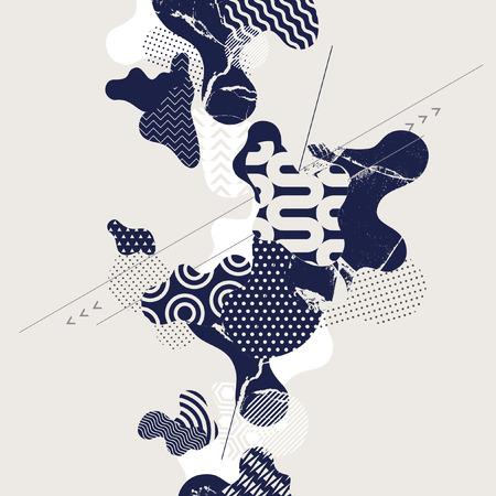 dcor: Abstract modern geometric background Illustration