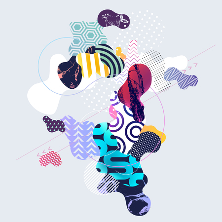 Abstract multicolor geometric background Illustration